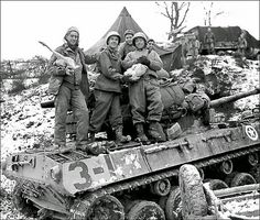 They tried to make the best of the situation, but it was often more of a short break from the constant fighting of the Battle of the Bulge. Soldiers of 10th Armored Division