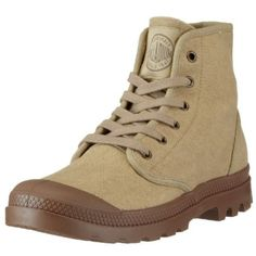 Palladium Men's Pampa Hi Canvas Boot,Stonewashed/Dark Khaki,11 M US