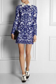Valentino - Intarsia stretch-knit dress