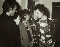 Richard Hell, Johnny Thunders  &  Sid Vicious / Backstage at Blondie concert / The Palladium, New York City, 1978