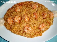 Arroz a banda con alioli Avocado Recipes, Rice Recipes, Seafood Recipes, Healthy Recipes, Kitchen Dishes, Rice Dishes, Couscous, Healthy Cooking, Cooking Recipes