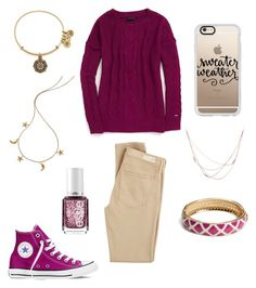 """""""Sweater Gala {nine}"""" by lilyschaefer on Polyvore featuring Tommy Hilfiger, Casetify, Alex and Ani, London Road, AG Adriano Goldschmied, Willow & Clo, Vera Bradley, Converse, Essie and women's clothing"""