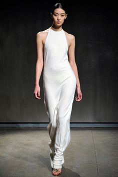 Halston Fall 2011 Ready-to-Wear Fashion Show Bridal Gown Styles, Bridal Gowns, Dresses For Work, Formal Dresses, Wedding Dresses, Wrap Dresses, Grecian Dress, Halston Heritage, Fashion Show