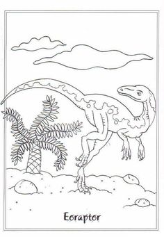 Beautiful Eoraptor Dinosaur Coloring Pages. Find out more coloring sheets assortment for kid in our web. Dinosaur Coloring Pages, Coloring Pages For Boys, Coloring Book Pages, Printable Coloring Pages, Coloring Sheets, Adult Coloring, Dinosaur Printables, Painting Templates, Dinosaur Art