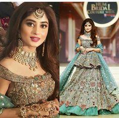 Bridal Mehndi Dresses, Indian Wedding Gowns, Desi Wedding Dresses, Indian Bridal Lehenga, Pakistani Bridal Dresses, Pakistani Dress Design, Bridal Outfits, Indian Dresses, Bride Dresses