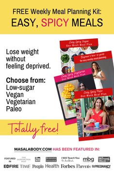 Forget about boring, tiny portions of food! Get your FREE Meal Planning Kit:  Free Easy, Spicy Weekly Meal Planning Kit. Use it to lose weight without feeling deprived - using delicious spicy fat burning foods! About: weight loss plans, weight loss meals.