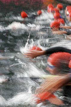 Swim start #triathalon #sports #photography