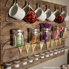 Pallet Coffee & Tea Drink Station