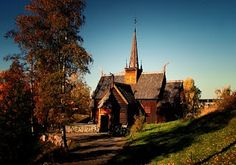 Garmo stave church, Lillehammer, Norway. Built c. 1150 on the site of a previous church thought to have been built in 1021 by a Viking chieftain. The church consists of 17th- and 18th-century inventory. In 1730, it was expanded into a cruciform church. After the new parish church was built in 1879, the stave church was demolished and the materials sold at auction. In 1882, the church was sold to Anders Sandvig, who brought it disassembled to Lillehammer, where it was re-erected in 1920-1921.