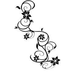 Tatouage branche avec fleurs
