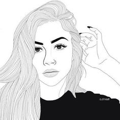 Fascinare: A Graphic Portfolio by Luhveli - Aesthetic Outline Edits - Wattpad Tumblr Girl Drawing, Tumblr Sketches, Girl Drawing Sketches, Tumblr Art, Cute Girl Drawing, Girl Sketch, Cute Drawings, Tumblr Outline Drawings, Girl Tumbler