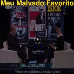 Meu Malvado Favorito [Mariana Godoy entrevista Eduardo Cunha na RedeTV em 20/05/2016 vídeo 67 min] ➤ http://www.redetv.uol.com.br/jornalismo/marianagodoyentrevista/videos/programas-na-integra/mariana-godoy-entrevista-recebe-eduardo-cunha-integra ②⓪①⑥ ⓪⑤ ②② #Cunha