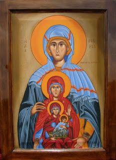 Anna, the Theotokos (Mary) & Jesus Mary And Jesus, Byzantine Icons, Orthodox Christianity, Son Of God, Orthodox Icons, Mother Mary, Jesus Christ, Dame, Decoupage