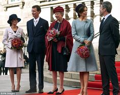 Royals officiating at the event included Princess Marie Prince Joachim, (pictured left) Pr...