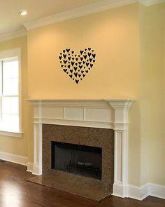 Wall Mural Vinyl Decal Sticker Design Interior Beautiful Heart Pattern OS597