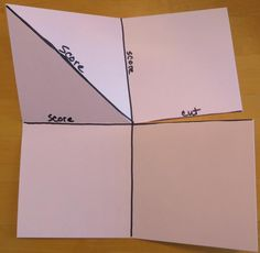 Pop Up Corner Card Diagram Card Making Templates, Card Making Tutorials, Card Making Techniques, Fancy Fold Cards, Folded Cards, Joy Fold Card, Pop Out Cards, Step Cards, Interactive Cards