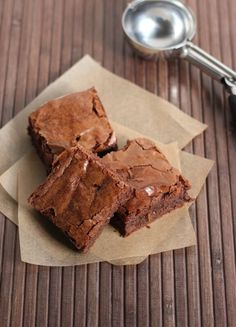 These chewy dense brownies are rich and full of flavor. They are sure to be a hit with your guests.