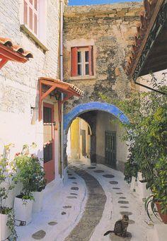 Olymbi town, Chios island, GREECE