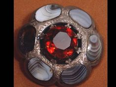Banded Agate 1850 STERLING Scottish cairngorn BIG Brooch discount this week only. $300.00, via Etsy.