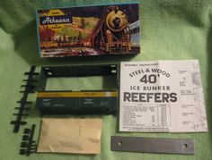 """HO Scale Athearn Kit: Columbia Gorge Refrigerator Express 40"""" Ice Bunker Reefer  #Athearn"""