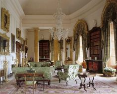 The inspiration for this post is The Drawing Room English Country House Decoration by Jeremy Musson which is filled with beautiful drawing rooms and text about each. Downton Abbey, Georgian Interiors, English Manor Houses, English Country Decor, Art Deco, Grand Homes, Classic Interior, My Living Room, Beautiful Interiors