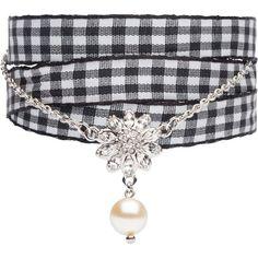 Miu Miu BRACELET (925 BRL) ❤ liked on Polyvore featuring jewelry, bracelets, nickel free jewelry, miu miu jewelry, swarovski crystal bangle, fine jewelry and pearl jewelry