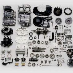 Yamaha Banshee.  2 stroke engine disassembled
