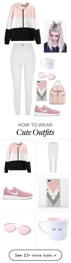 """Libra- weekend outfit"" by brydie-k on Polyvore featuring River Island and NIKE"