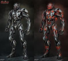 Ultron Design Exploration, Josh Nizzi on ArtStation at https://www.artstation.com/artwork/QxG5Z
