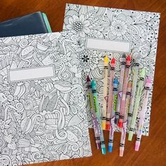 Printable binder covers to color for back-to-school