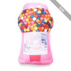 Iscream Gumball Machine Scented Microbead Pillow (Pink)