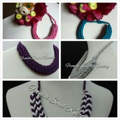Knitted Necklace Collection www.frenchsoulknittery.com #knitting #yarn #handmade #frenchsoulknittery #knittednecklace #knittedjewelry #knitwear