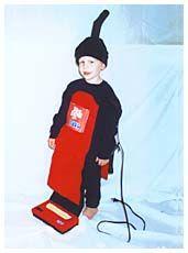 Dirt Devil vacuum costume DIY