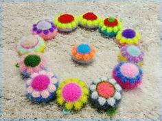 이제서야 도안오픈을~^^;;; 뚱언니 미친소해바라기수세미 가운데 볼록한 꽃잎 9개 해바라기입니다 1단매직...