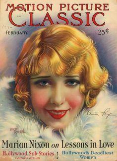 Vintage 1930 MOTION PICTURE CLASSIC Movie Magazine CLARA Bow LUPE Velez