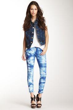 Romeo & Juliet Couture Tie-Dye Skinny Jean by Romeo & Juliet Couture on @HauteLook