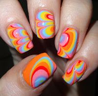Wendy's Delights: Dry Water Marbling using Nella Milano Nail Lacquers @Nella_Milano #watermarble