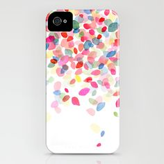 Watercolor Colorful Dots Falling iPhone & iPod Case