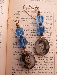 Victorian Lady earrings ....etsy...$38