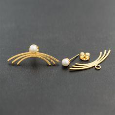 Edgy stud perla pendiente chaquetas pendientes de por emmanuelaGR