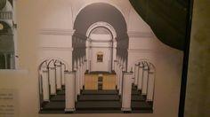 Chiesa di San Sisto a Piacenza.  Architetto Alessio Tramello.  1490-1511. Ricostruzione dell'assetto originario con il coro al centro della navata principale e con la pala di Raffaello