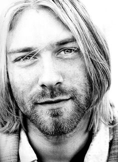 Black and White music photo kurt cobain nirvana smile kurt lives Legacy Jimi Hendricks, Beautiful Men, Beautiful People, Music Rock, El Rock And Roll, Donald Cobain, Rock Poster, Nirvana Kurt Cobain, Kirk Cobain