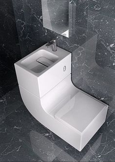 Sleek Sink/Toilet Combo is an All-in-One Greywater Recycling System | Inhabitat - Green Design, Innovation, Architecture, Green Building