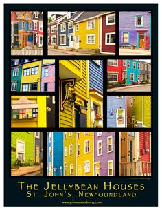 The Jellybean Houses of St. John's Newfoundland is just one of dozens of posters created by Twillingate Photographer John Satterberg. Just posted to their new website today.