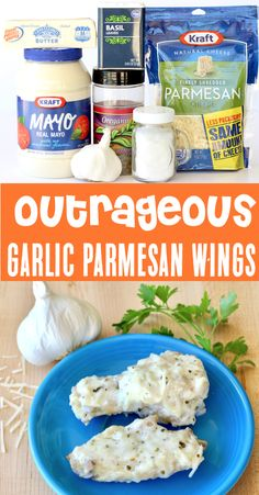 Crockpot Chicken Recipes!  Easy savory Garlic Parmesan Wings Recipe!  You won't believe how fast these will disappear!  They make the perfect dinner for busy weeknights, and are a must-have on game day!  Go grab the recipe and give them a try this week! Parmesan Wings Recipe, Parmesan Chicken Wings, Chicken Livers, Easy Dinner Recipes, Easy Meals, Cheap Meals, Easy Recipes, Chicken Wing Recipes, Clean Eating Snacks