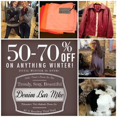 Our #WINTER #SALE is still running! Until winter is over stop in and save up to 50-70% OFF anything winter! ;-))