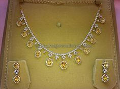 Jewellery Designs: CZs and Yellow Sapphires Set