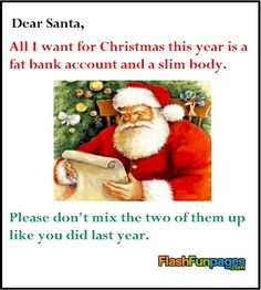 funny letter to Santa from FlashFunpages.com