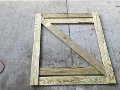 diagonal cross member on gate