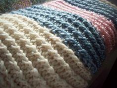 knitting board blanket -finished